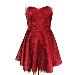🎉HP🎉 Victorian Little Red Cocktail Dress